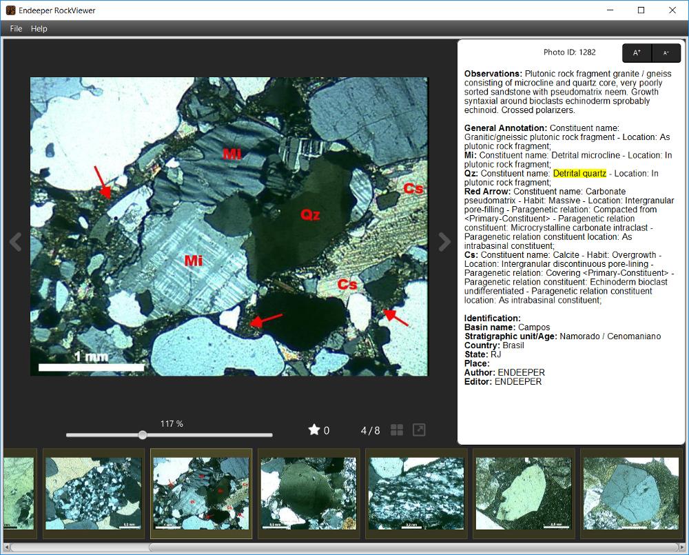 RockViewer - Detalhes de Fotomicrografia - Quartzo