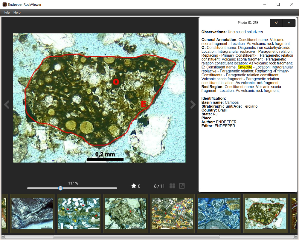 RockViewer - Photomicrograph Details - Smectite